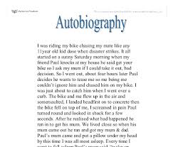 example of autobiographical essays